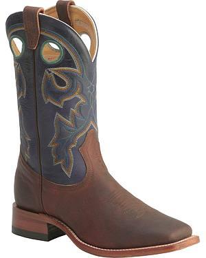 Boulet Stockman Cowboy Boots - Wide Square Toe