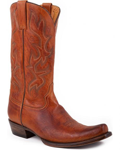 Stetson Honey Vamp Cowboy Boots - Snoot Toe