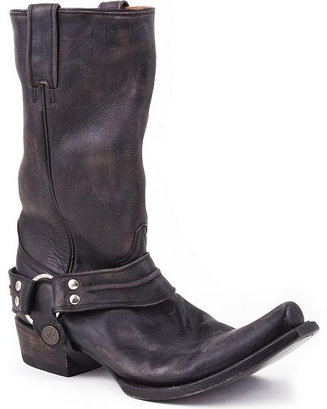 Stetson Harness Cowboy Boots - Snoot Toe
