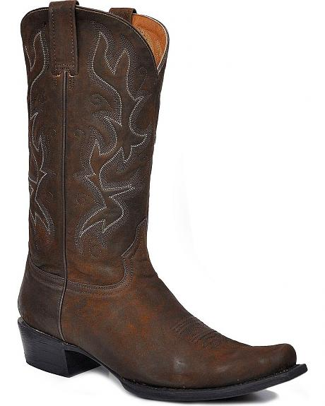 Stetson Acetone Vamp Cowboy Boots - Square Toe