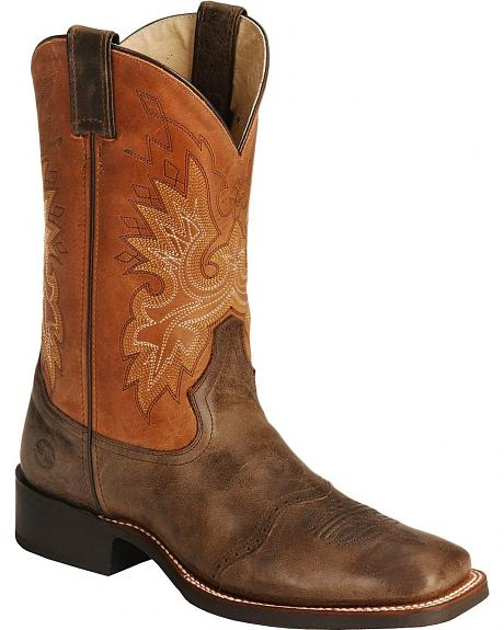 Double H Roper Cowboy Boots - Wide Square Toe