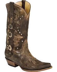 Corral Crater Stud Cowboy Boots - Snip Toe