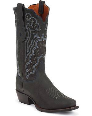 Tony Lama Signature Series Kangaroo Cowboy Boots - Square Toe