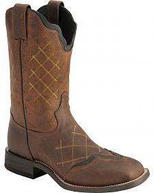 Tony Lama San Saba Series Century Cowboy Boots - Square Toe