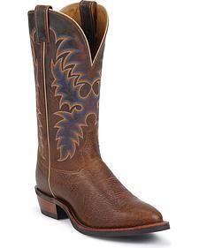 Tony Lama Americana Conquistador Shoulder Cowboy Boots - Round Toe