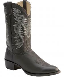 Red Ranch Smooth Leather Cowboy Boots