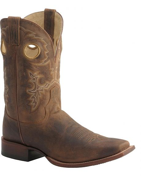 Red Ranch Bay Apache Mignon Punchy Cowboy Boots - Square Toe