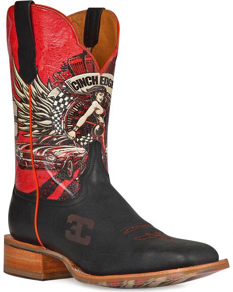 Cinch Edge Race Ready Cowboy Boots - Square Toe