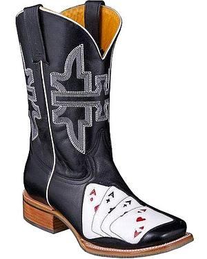 Tin Haul Las Vegas Cowboy Boots - Square Toe