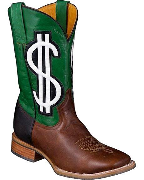 Tin Haul Benjamin Cowboy Boots - Square Toe