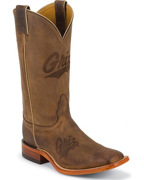 Nocona Men's University of Montana College Cowboy Boots - Square Boots