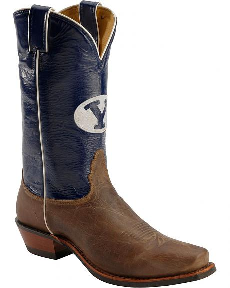 Nocona Men's Brigham Young University College Cowboy Boots - Square Toe