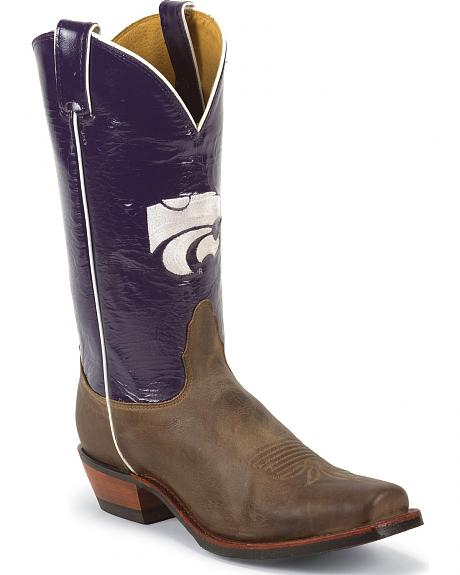 Nocona Men's Kansas State University College Cowboy Boots - Square Boots