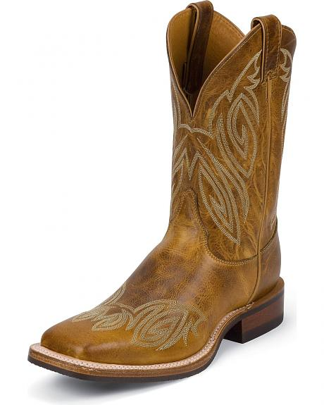 Justin Bent Rail Stitched Cowboy Boots - Square Toe