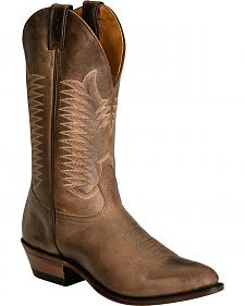 Boulet Brown Cowboy Boots - Medium Toe