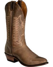 Boulet Brown Cowboy Boots - Medium Toe