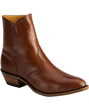 Boulet Western Dress Side Zip Boots - Medium Toe