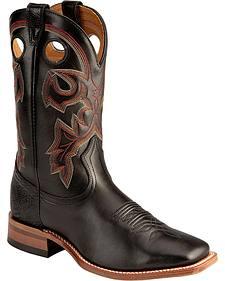 Boulet Torino Stockman Cowboy Boots - Square Toe
