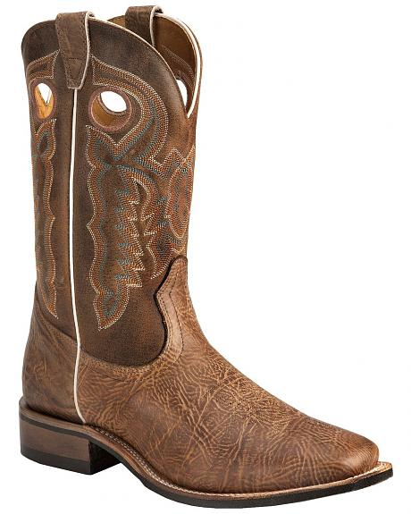 Boulet Distressed Buckaroo Boots - Square Toe