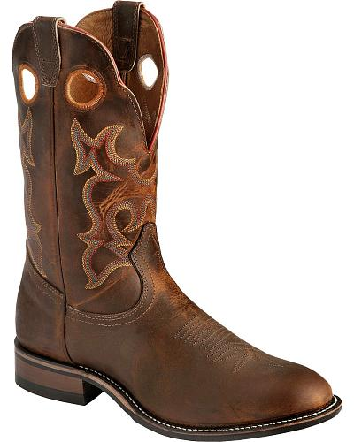 Boulet Super Roper Walnut Boots Round Toe Western & Country 292
