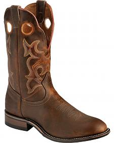 Boulet Super Roper Walnut Boots - Round Toe
