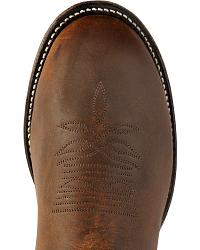 Boulet Super Roper Walnut Boots - Round Toe at Sheplers