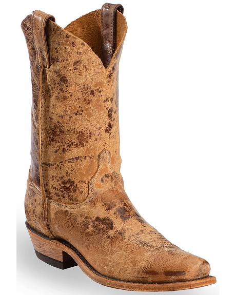 Justin Distressed Cowboy Boots - Snip Toe