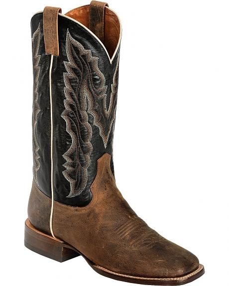 Red Ranch Stockman Cowboy Boots - Square Toe