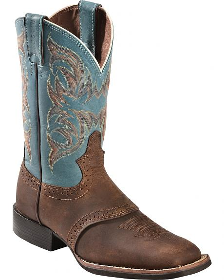 Justin Stampede Cattleman Boots - Square Toe