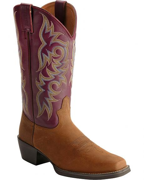 Justin Stampede Western Boots - Square Toe