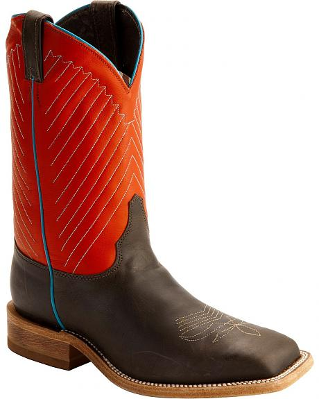 Justin Bent Rail Cowboy Boots - Square Toe