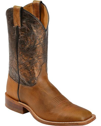 Justin Bent Rail Damiana Metallic Cowboy Boots Square Toe Western & Country BR316