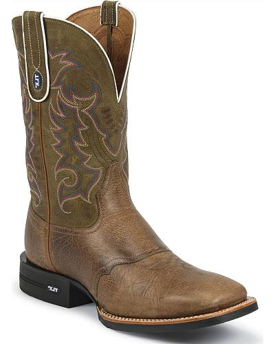Tony Lama TLX Performance Cowboy Boots Wide Square Toe Western & Country XT6018