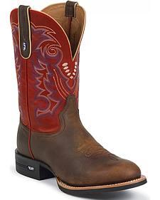 Tony Lama TLX Performance Cowboy Boots - Round Toe