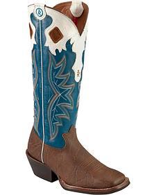 Tony Lama 3R Buckaroo Cowboy Boots - Square Toe