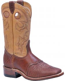 Boulet Saddle Vamp Cowboy Boots - Square Toe