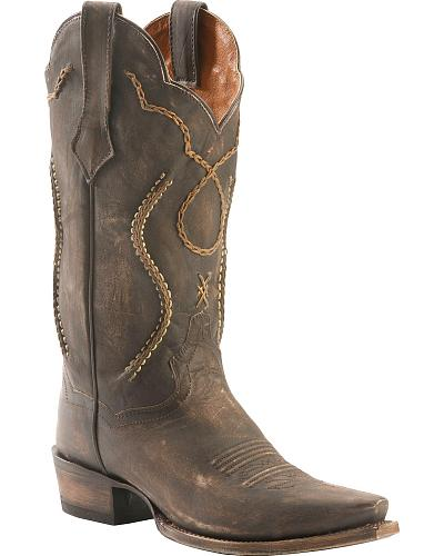 Dan Post Tyree Chain Lace Cowboy Boots Snip Toe Western & Country DP26680