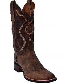 Dan Post Kirby Mad Goat Chain Laced Cowboy Boots - Square Toe