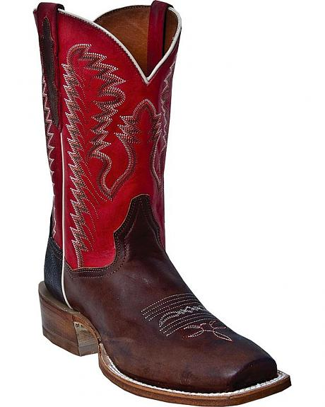 Dan Post Station Camp Cutter Cowboy Boots - Square Toe