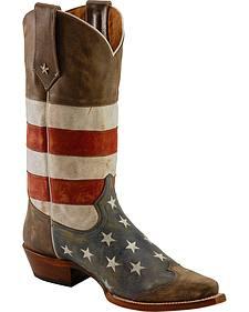 Roper American Flag Cowboy Boots - Snip Toe