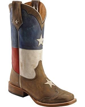 Roper Texas Flag Cowboy Boots - Square Toe