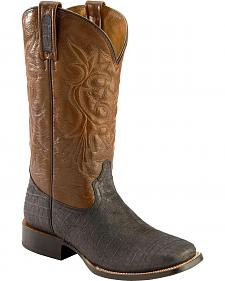 Roper Caiman Belly Print Cowboy Boots - Square Toe