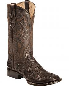 Stetson Hand Tooled Cowboy Boots - Square Toe