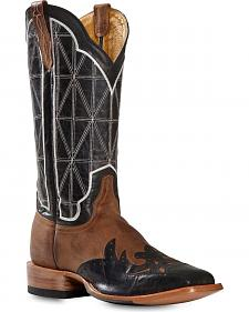 Cinch Classic Mad Dog Stained Glass Wingtip Cowboy Boots - Square Toe
