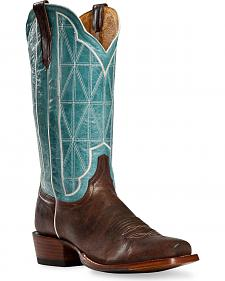 Cinch Classic Antique Stained Glass Stitched Cowboy Boots - Square Toe