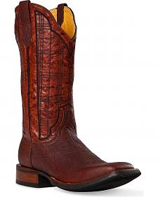 Cinch Classic Russet Amber Cowboy Boots - Square Toe