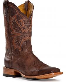 Cinch Classic Mad Dog Goatskin Cowboy Boots - Square Toe