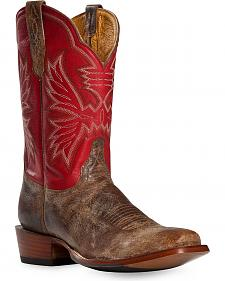 Cinch Classic Distressed Carmine Cowboy Boots - Square Toe