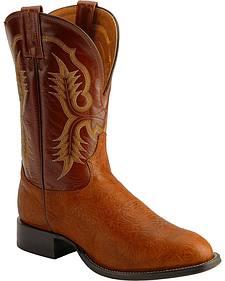 Tony Lama Aztec Shoulder Cowboy Boots - Round Toe