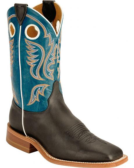 Justin Bent Rail Chester Sophia Cowboy Boots - Square Toe